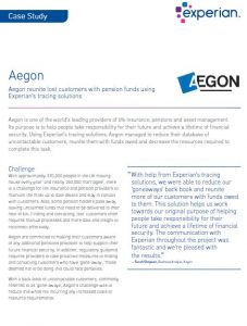 Aegon tracing case study