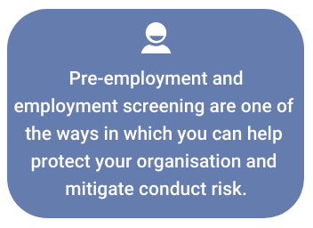 Why is employment screening important under SM&CR?